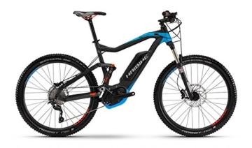 "HAIBIKE Xduro FullSeven RC 27,5"" schwarz/blau/rot matt Rahmengröße 45 cm 2016 E-Fully -"