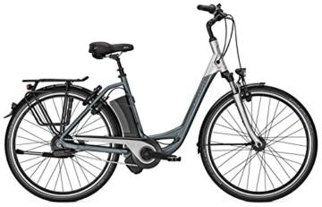E-Bike Kalkhoff AGATTU IMPULSE ERGO XXL Wave NuVinci Harmony Schaltautomatik 36V/17Ah 26' grey/silver Rh 46, Rahmenhöhen:46;Farben:grey/silver -