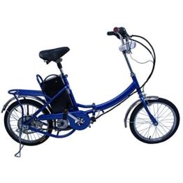 Elektro Klapprad, CRAVOG Aluminiumrahmen E-Bike Mittelmotor mit Rücktritt Inkl 12Ah/24V Akku und Ladegerät, Farbwahl 18 Zoll / 45cm (Blau) -