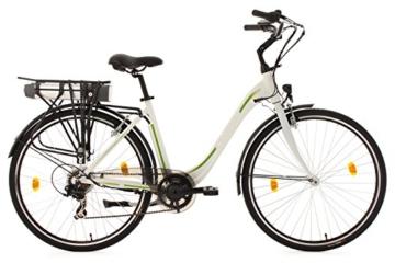 Elektrofahrrad Citybike, CRAVOG Aluminiumrahmen 7 Gang Elektro Mountainbike mit Rücktritt Inkl 10.4Ah / 36V Akku und Ladegerät, Grün , 28 Zoll -