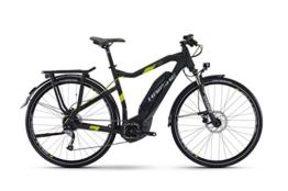 HAIBIKE Sduro Trekking 4.0 Herren schwarz/titan/lime matt Rahmengröße 52 cm 2017 E-Trekkingrad -