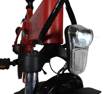 LLobe Erwachsene 20 Zoll Alu Falt E-bike City II, Mattrot, 50.8 cm, 130748 -