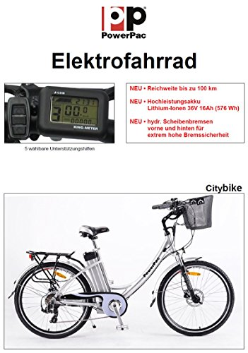 powerpac citybike mit 26 im test. Black Bedroom Furniture Sets. Home Design Ideas