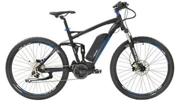 FISCHER FAHRRAEDER E-Bike Mountainbike EM 1762, 27,5 Zoll, 9 Gang, Mittelmotor, 557 Wh 70 cm (27,5 Zoll) -