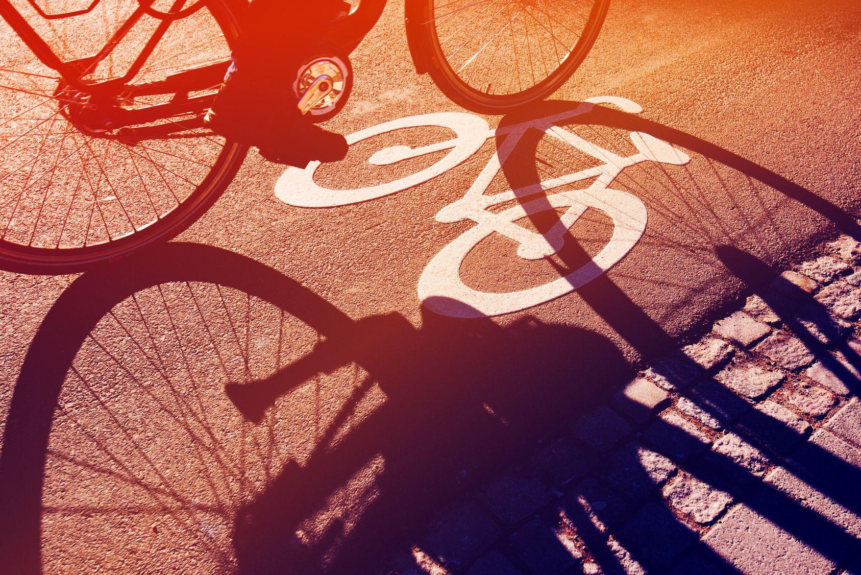 Weg für Fahrräder