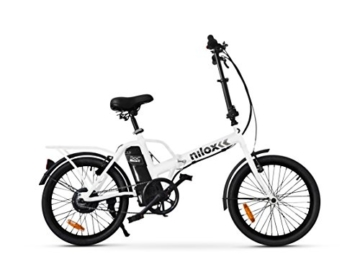 Nilox E-Bike X1 New, Elektrisches Fahrrad Faltend, Weis, One size - 2