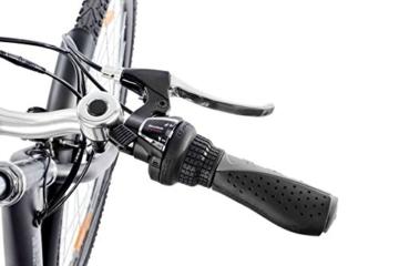 28 Zoll Teutoburg Senne Pedelec Citybike leicht Elektrofahrrad 250W und 10,4 Ah // 36 V Lithium-Ionen-Akku mit 6-Gang Shimano Kettenschaltung
